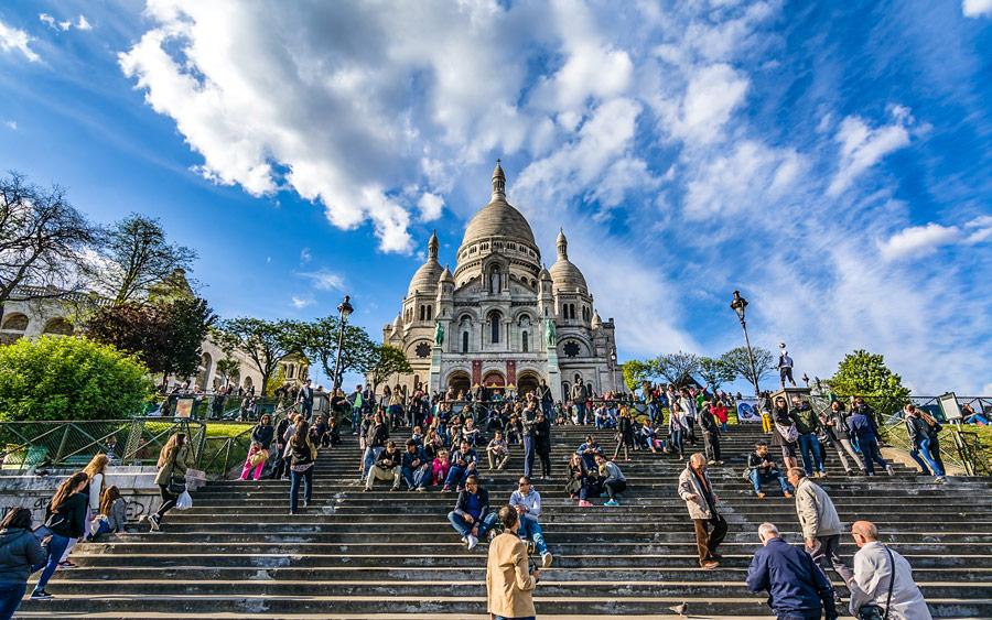Sacré-Coeur in Parijs Montmartre