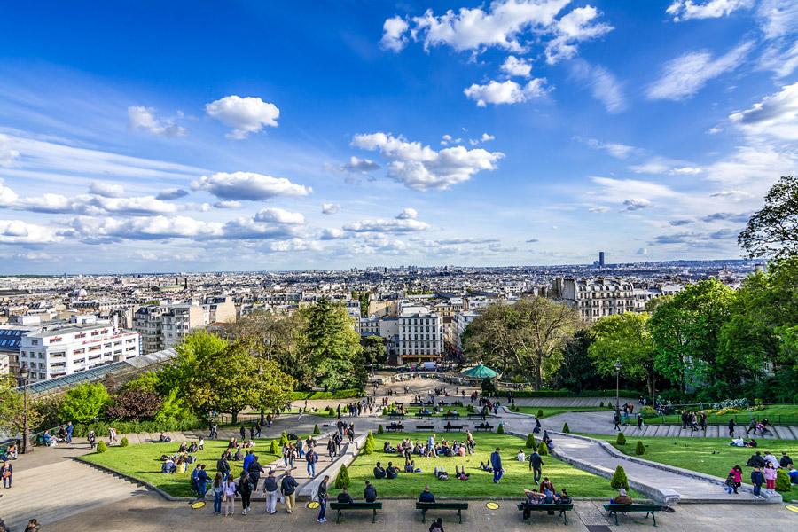 Sacré-Coeur Parijs Montmartre Uitzicht Parijs