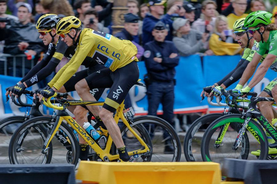 Tour de France op de Champs-Elysées