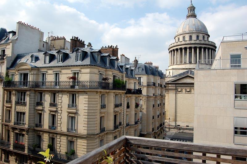 Uitzicht op het Pantheon Parijs