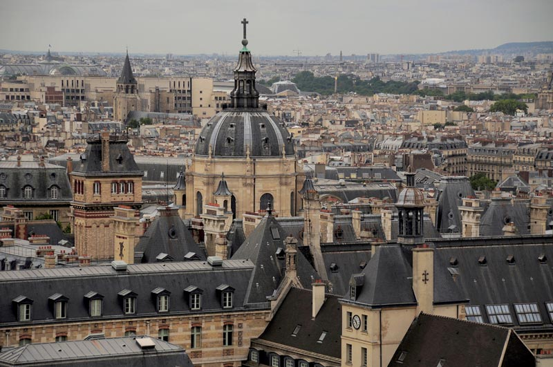 Uitzicht vanaf het Pantheon Parijs