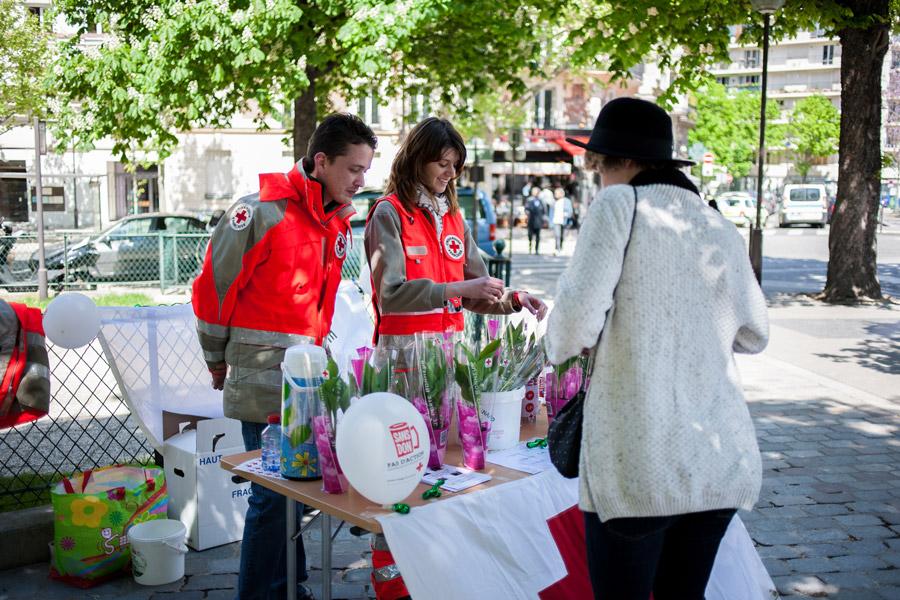 1 mei, dag van de arbeid, Parijs, lelies van dalen