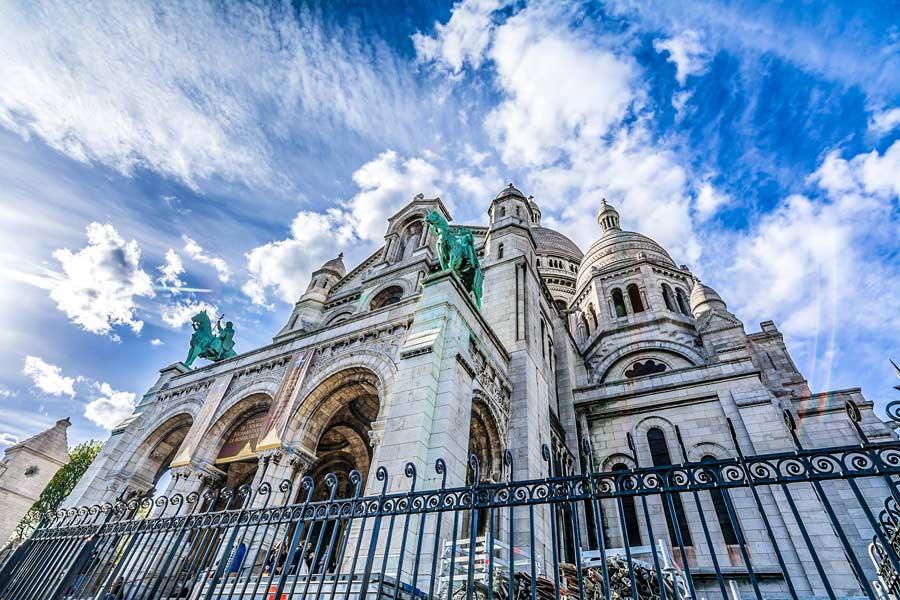 Sacré-Coeur in Parijs Montmartreop Bezienswaardigheden Parijs