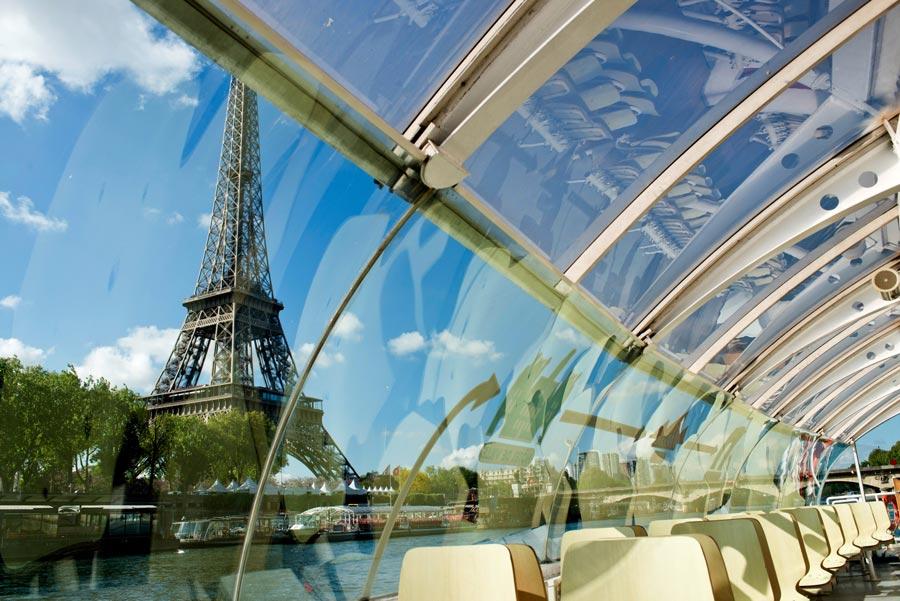 Batobus uitzicht op Eiffeltoren