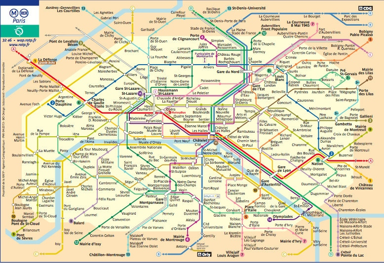metrokaart parijs