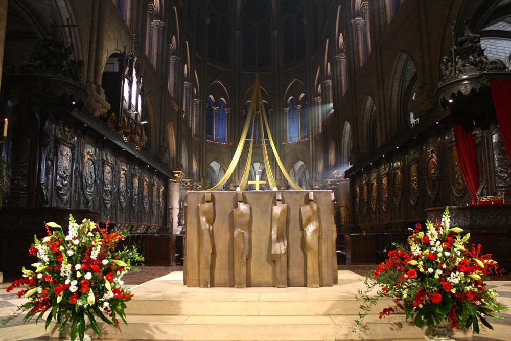 Kerstdienst in de Notre Dame