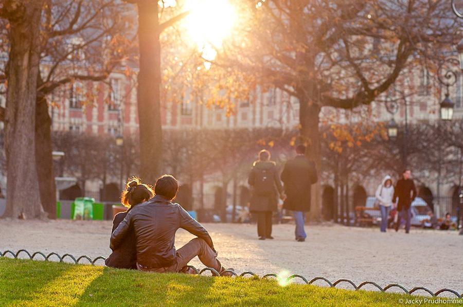 Place des Vosges is een romantische plek
