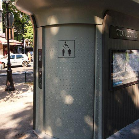 Schone openbare toiletten in Parijs