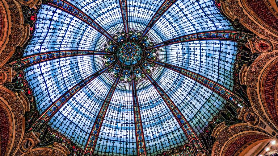 De koepel in het Galeries Lafayette