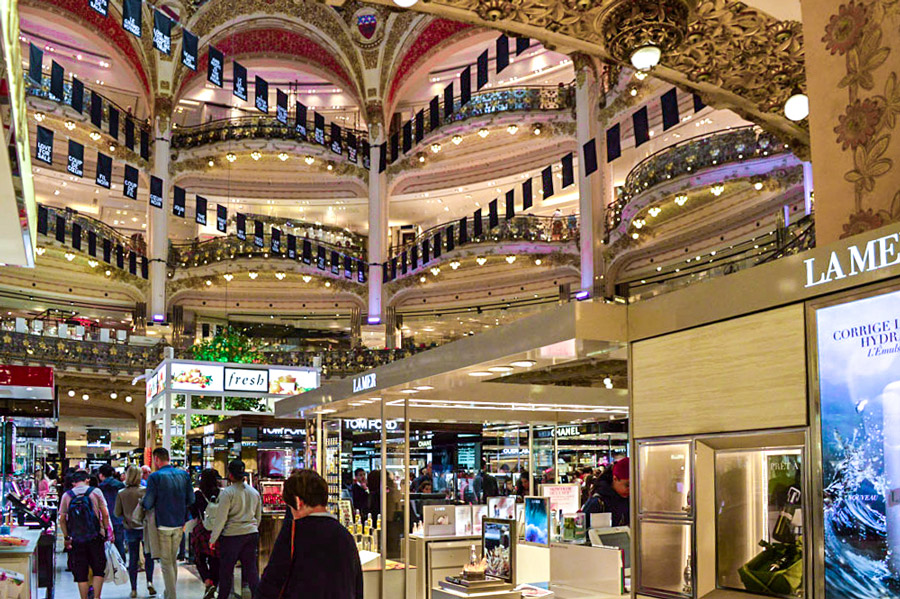 Galeries Lafayette Warenhuis Parijs Boulevard Haussmann