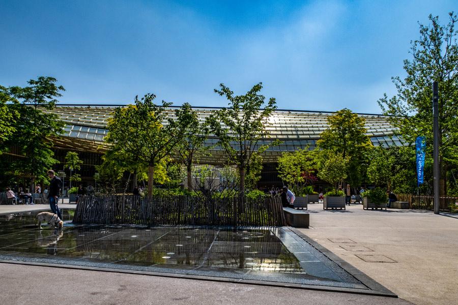 winkelcentrum forum des halles Parijs jardin nelson Mandela