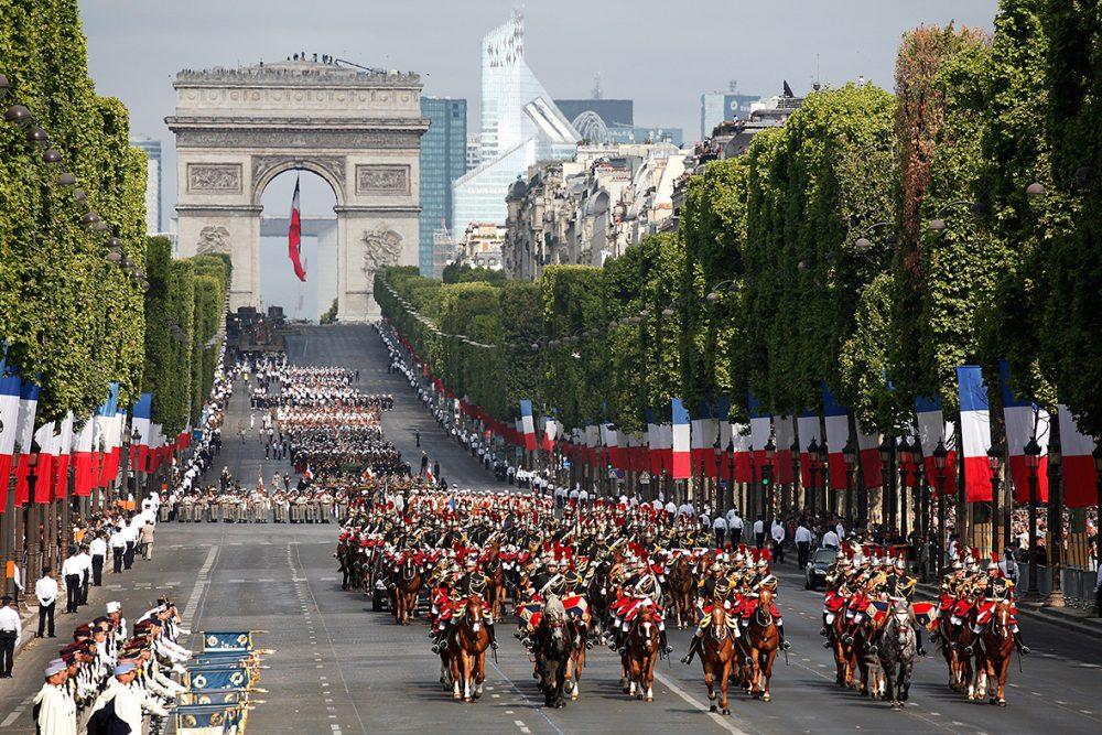 14 juli in Parijs op de Champs-Elysées