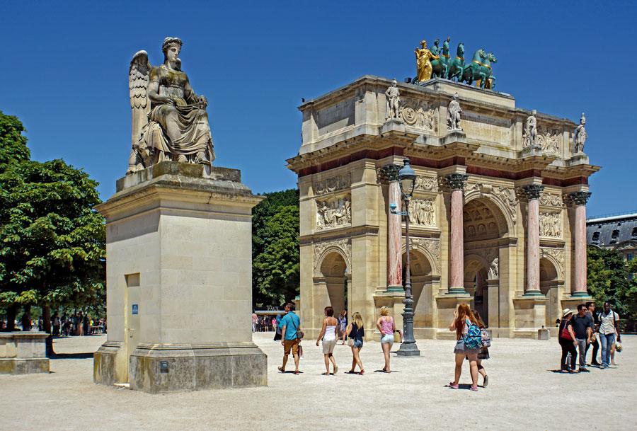 Arc de Triomphe du Carrousel bij het Louvre