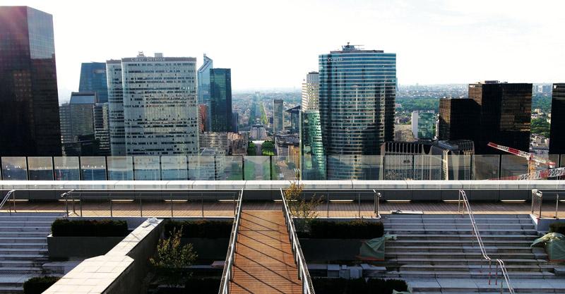Uitzicht vanaf La Grande Arche Parijs