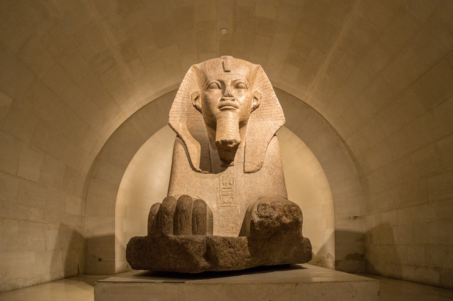 Sphinx of Tamis Louvre Museum Parijs