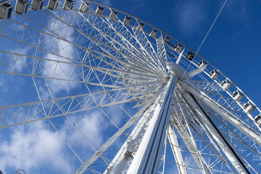 Het reuzenrad op Place de la Concorde