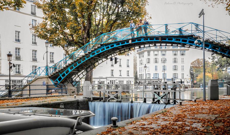 Canal Saint Martin Parijs