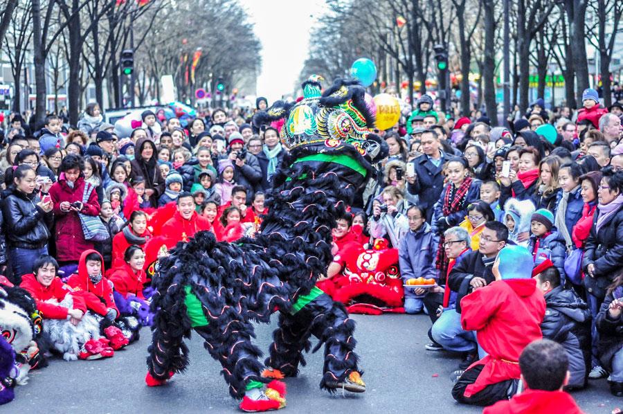 Chinees nieuwjaar belleville 20e arrondissement Parijs