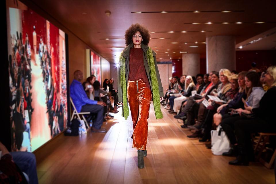 Modeshow in het Galeries Lafayette Parijs