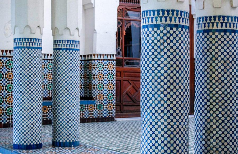 Geheime plekken in Parijs. Grote moskee van Parijs.