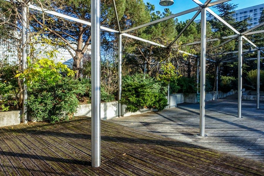 Jardin Atlantique op het dak van het Gare Montparnasse Parijs