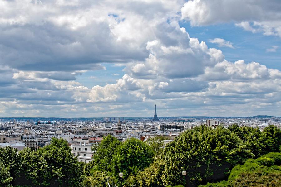 Parc de Belleville Parijs
