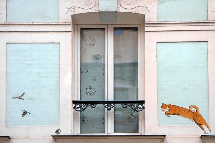 Rue Cremieux Parijs, meest kleurrijke straat van Parijs, gekleurde huizen