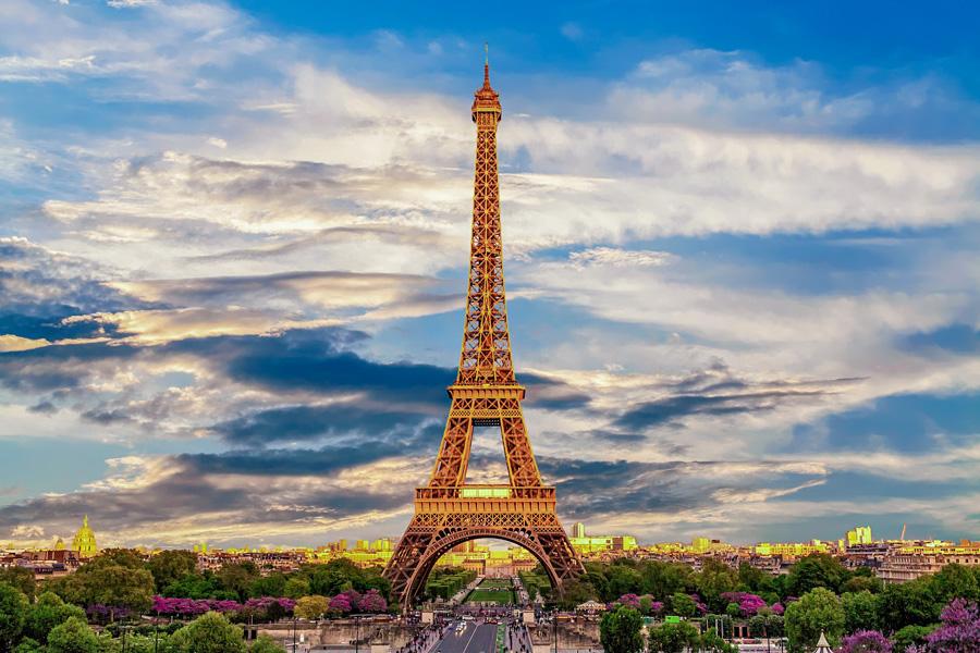 Uitzicht op de Eiffeltoren vanaf Trocadéro.