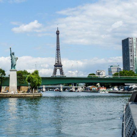 Het vrijheidsbeeld in Parijs
