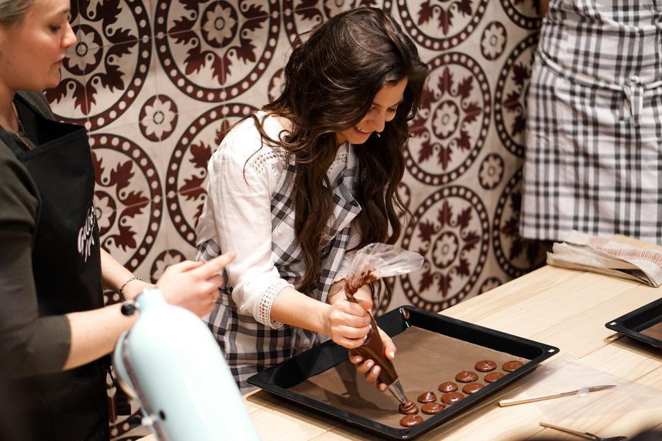 Workshop macarons maken in het Galeries Lafayette