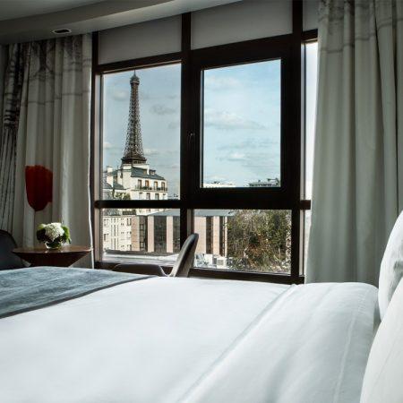 Hotel met uitzicht op de Eiffeltoren: le Parisis
