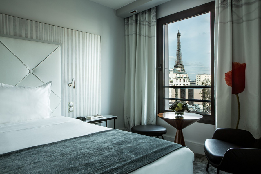 Hotel in Parijs Uitzicht op de Eiffeltoren Hotel Parisis