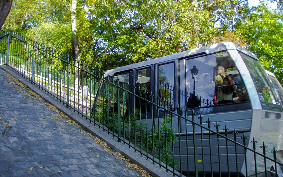 Funiculaire de Montmartre Parijs Sacre Coeur Kabeltrein