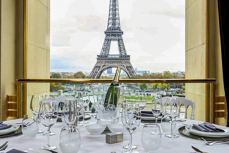 Palais Chaillot Parijs restaurant uitzicht Eiffeltoren