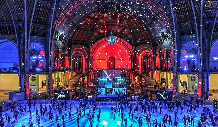 Schaatsen in het Grand Palais in Parijs