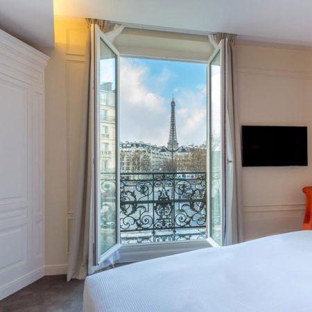 Hotel met uitzicht op de Eiffeltoren: Hôtel la Comtesse