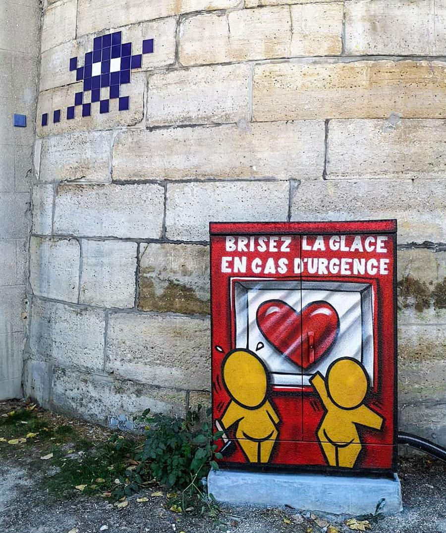 Kunst Parijs Invader Jace Gouzou